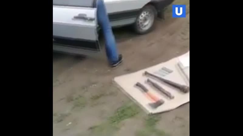 У участников конфликта в Чемодановке нашли топоры и дубинки с шипами