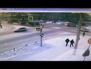 Момент ДТП на перекрестке Ленина Гагарина в Чебоксарах 23 января 2019
