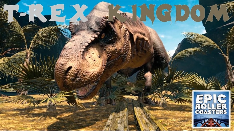 EPIC ROLLER COASTERS - T-REX Kingdom -VR- Oculus Rift - VR EXPERIENCE