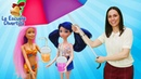 La escuela divertida. Vamos a la playa con Ladybug y Barbie. Juegos divertidos de juguetes.