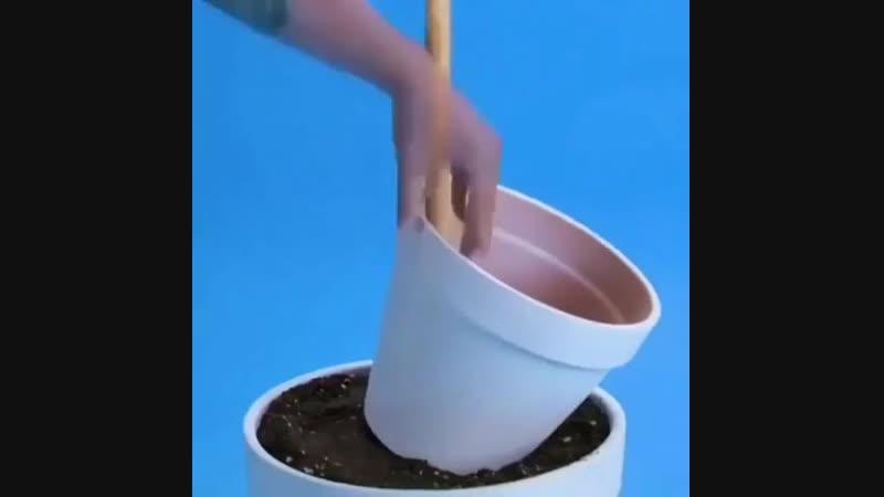 Креативная цветочная клумба из горшков
