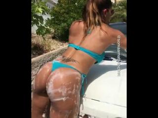 Отличная автомойка  (сексуальные девушки красивая попа секс не порно голые женщины частное эротика домашнее раздевается девушки