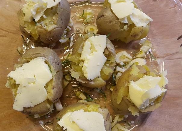 Мятая картошка с розмарином