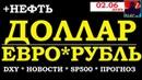 Курс доллара на сегодня 02.06, курс евро, курс рубля, цена на нефть, DXY,sp500, Новости, Аналитика