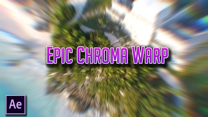 After Effects CC-Epic Chromatic Warp Transition Tutorial