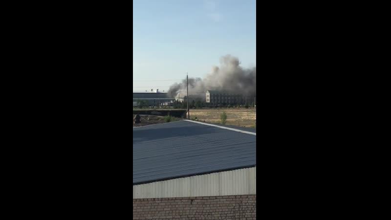 Пожар на заводе GRASS 24.06.2019