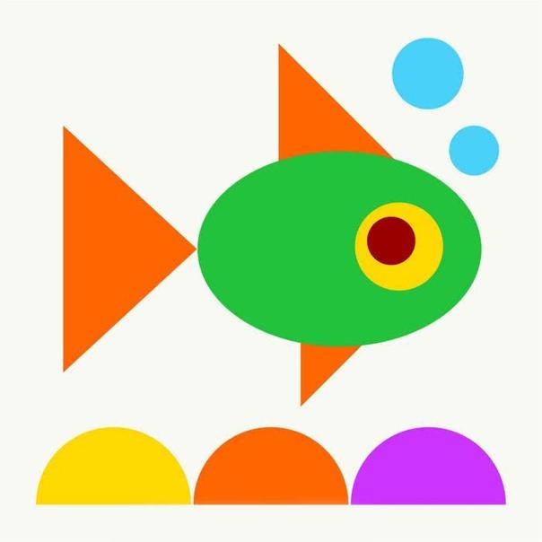 Первые поделки для детей до 2 лет - Аппликации из цветной бумаги Красочные аппликации помогут организовать досуг ребенка. Из цветной бумаги вырежьте разные геометрические фигуры (круги,