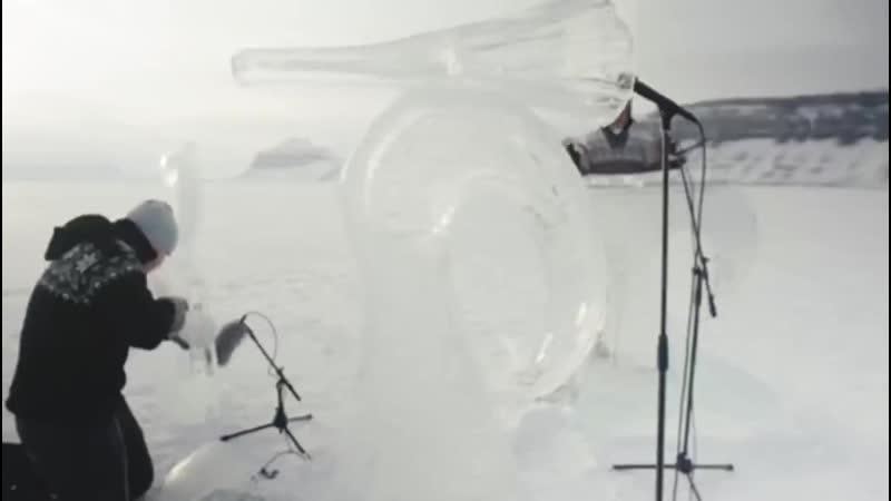 Активисты Гринпис сыграли на инструментах изо льда