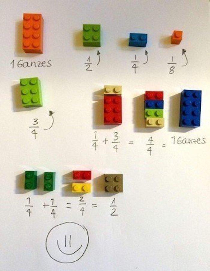 Как объяснить ребёнку дроби с помощью конструктора lego