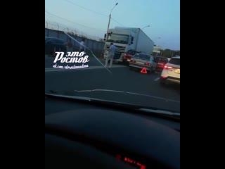 Авария на Менжинского с участием 4 автомобилей  -  - Это Ростов-на-Дону!