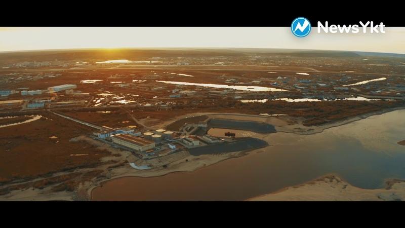 Река Лена: съемка с дрона
