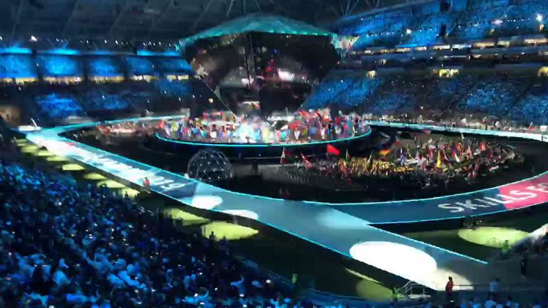 Церемония открытия WorldSkillsKazan2019 . Live со стадиона Kazan Arena