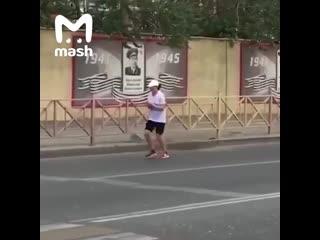 А вот так проходит полумарафон в Дагестане.
