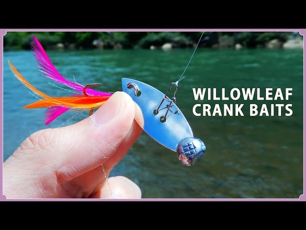 How to make a Metal baits using willow leaf blades.ウィローリーフブレードで自作するメタル系クランクベ12