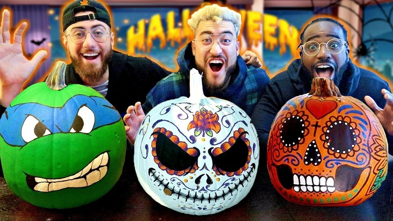 Custom PAINTING Halloween PUMPKINS 🎃!! *DIY PUMPKIN IDEAS* (GIVEAWAY WINNERS)