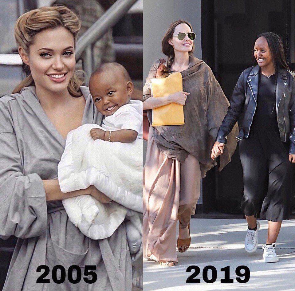 Как же быстро повзрослела малышка Анджелины Джоли - Захара