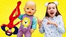 Леди Баг иБарби против великана вползунках! Новое видео Как Успокоить Ребенка!