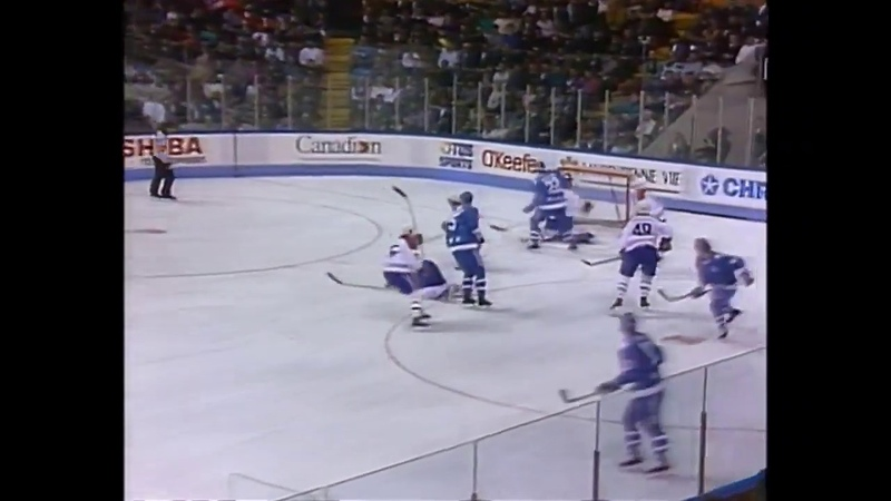 Alexei Gusarov first NHL goal from Guy Lafleur and Joe Sakic assists 1991