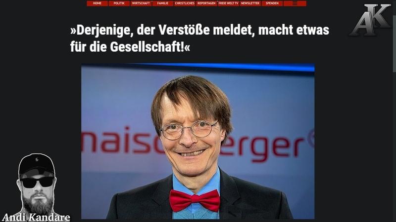 Karl Lauterbach verteidigt Denunziantentum