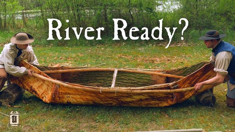 Building A Bark Canoe In 12 Hours Elm Bark Canoe Part 2