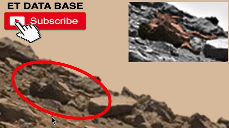 Dead Alien Body Laying On Surface Of Mars, NASA Rover Photo! UFO Sighting News.