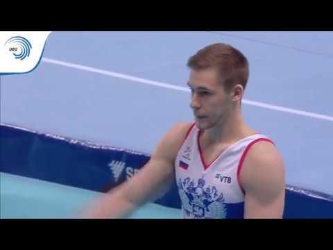 Vladislav POLIASHOV RUS 2019 Artistic Gymnastics European bronze medallist pommel horse