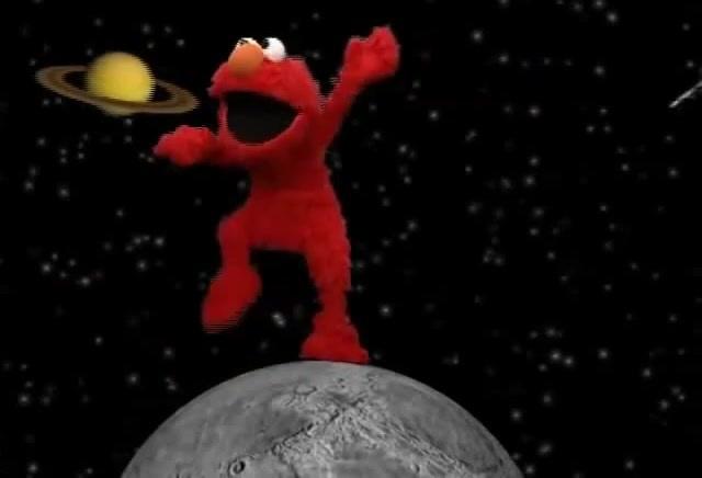 Elmo Dancing On The Moon · coub коуб