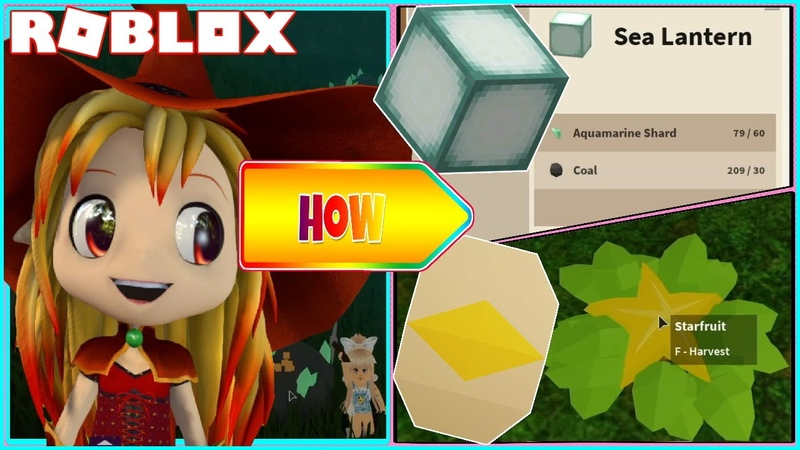 🌊 How to get STARFRUIT SEEDS Making Sea Lantern and MORE Roblox Skyblox