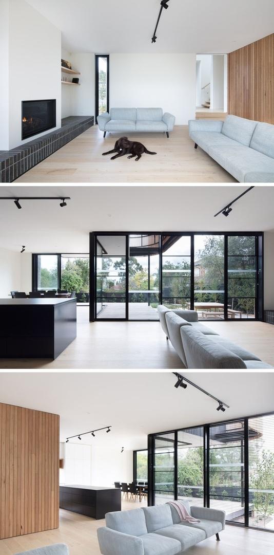 Дополнительный объём, обшитый древесиной, был спроектирован и пристроен к уже существующему дому архитектурной фирмой Modscape в Мельбурне.