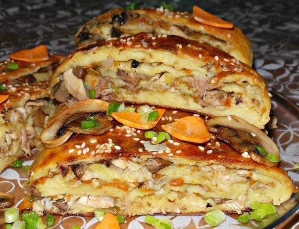 Kartofel'nyy rulet s kuritsey i gribami