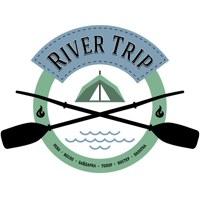 Логотип RiverTrip. Любовь с первого сплава.