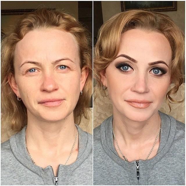 Решила сделать маме макияж, если вам трудно, могли бы оценить от 1 до 10?