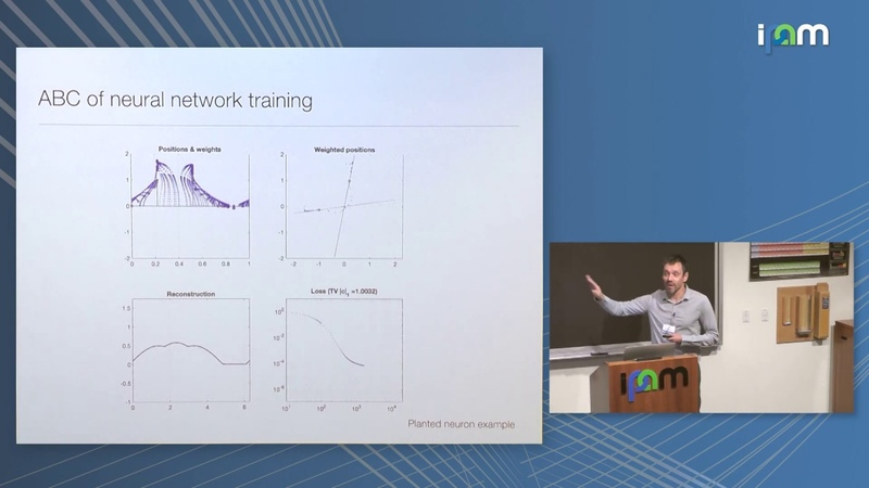 Eric Vanden Eijnden Trainability and accuracy of artificial neural networks
