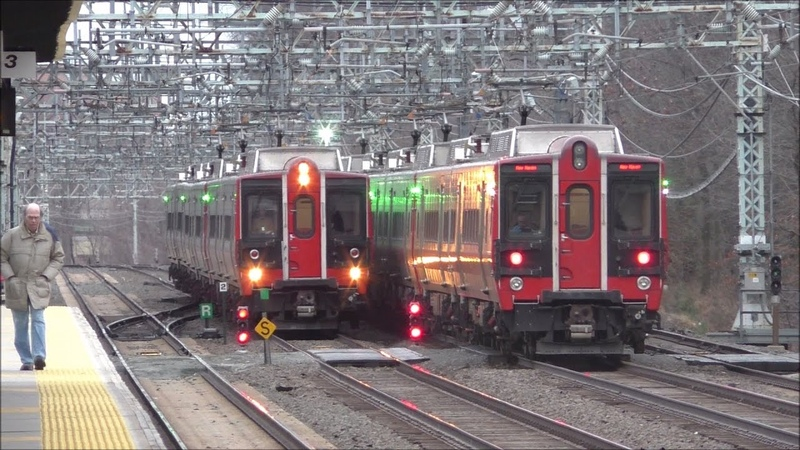 Metro North RR HD 60fps Evening Rush Hour on New Haven Line @ Pelham w Mode Changes 1 19 17