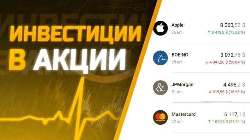 💰 Инвестиции в акции в Тинькофф Инвестиции Дивиденды от MasterCard