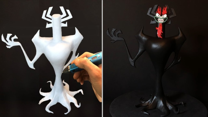 How to make Demon AKU 3D Pen Samurai Jack