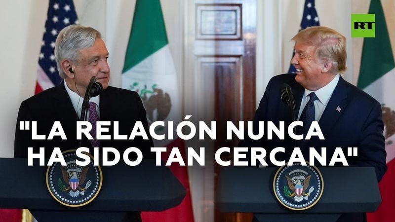 Trump y López Obrador se regalan elogios en la Casa Blanca