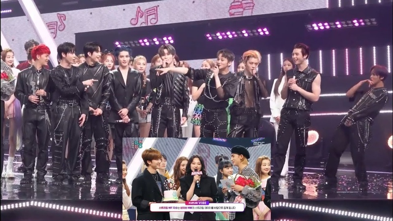 Nct 127 reaction when mina mentioned mark in her goodbye speech on music core 200530