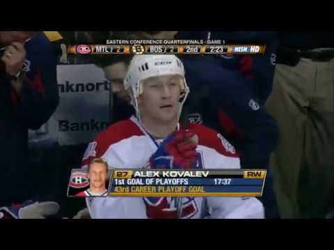 Alex Kovalev awesome goal vs Bruins in game 1 2009