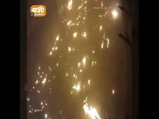 Кадры с камеры видеонаблюдения, на которых предположительно зафиксирован момент крушения украинского Боинга