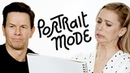 Mark Wahlberg Iliza Shlesinger Share On-Set Horror Stories While Drawing Each Other's Portraits