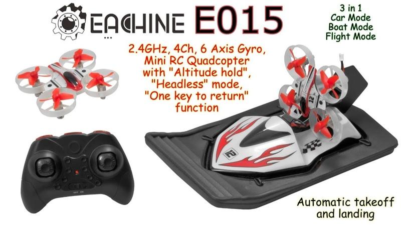 Eachine E015 2 4GHz 4Ch 6 Axis Mini RC Quadcopter Alt hold Headless One key to return RTF