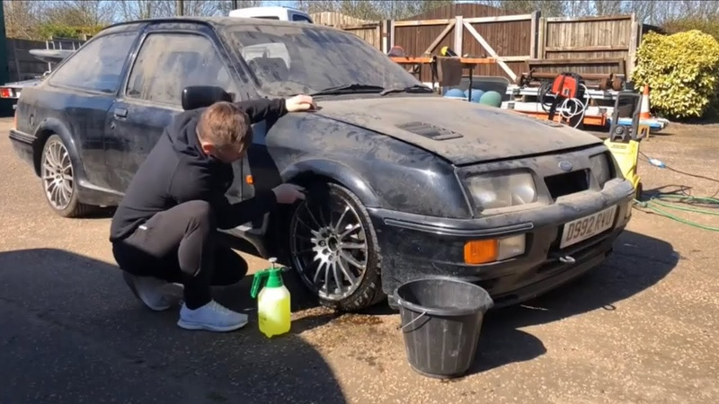 3 door ford Sierra cosworth Rs first wash in 9 years