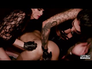 Mistress Damazonia & Natalie Mars & Michael Vegas - Soft Leather Party