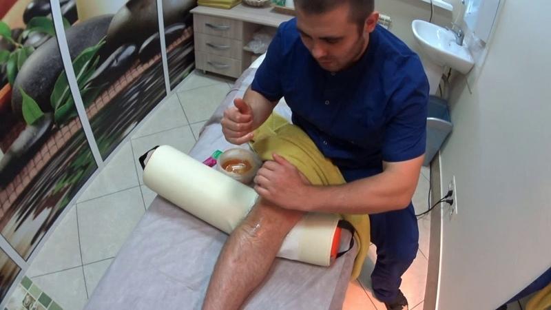 Медовый самомассаж колленого суставапроводится медовый самомассаж колленного сустава