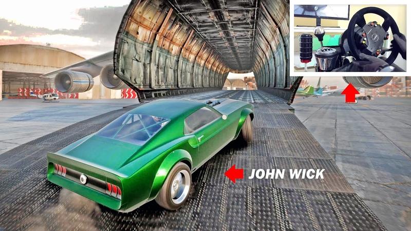 Drifting through a Cargo Plane! (Like John Wick!) - Car X Drift w/Steering Wheel Pedal Setup!