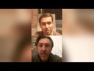 Сергей Шнуров и Александр Кержаков - Прямой эфир в Instagram ()