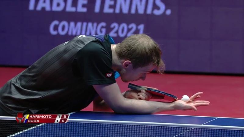 Tomokazu Harimoto vs Benedikt Duda 2020 ITTF Hungarian Open Highlights 1 4