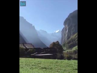На поезде в сказку (Лаутербруннен Швейцария)