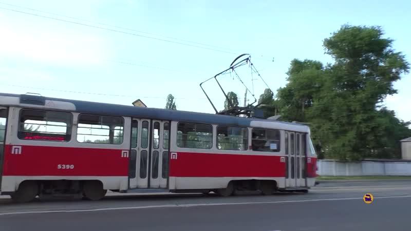 Самый длинный маршрут Киевский трамвай Городской транспорт Железная дорога